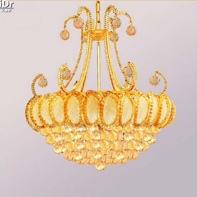 European Style Living Room Chandelier Crystal Lamp Bedroom Minimalist Restaurant Lamps Lighting Gold Chandeliers