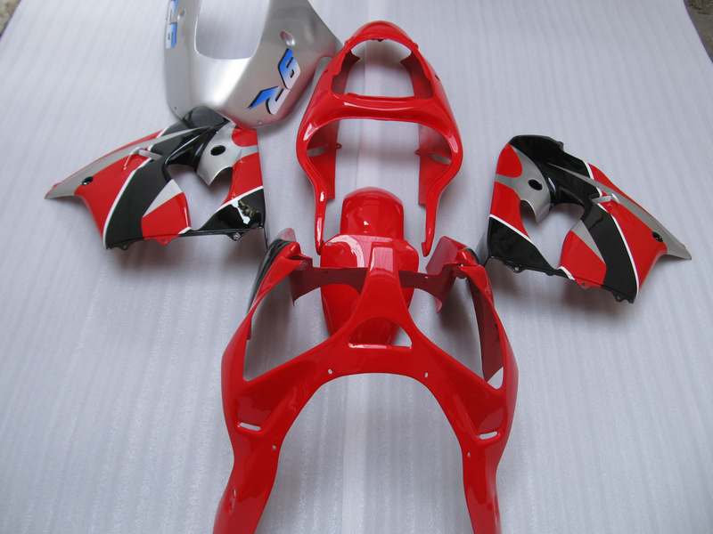 Бесплатная Настройка обтекателя комплект для Kawasaki ninja ZX9R 2000 2001 красный серебристый обтекатель кузова ZX9 R 00 01 OT14
