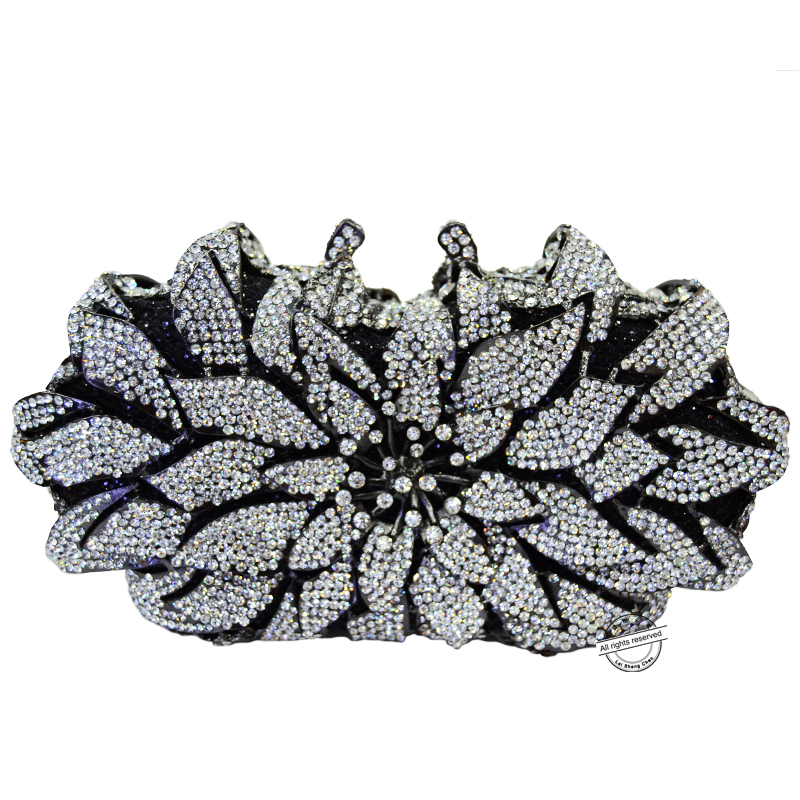 ФОТО Luxury Rhinestone clutch bag crystal handbags party purse wedding bag pochette Fashion square Cocktail party purse 88300