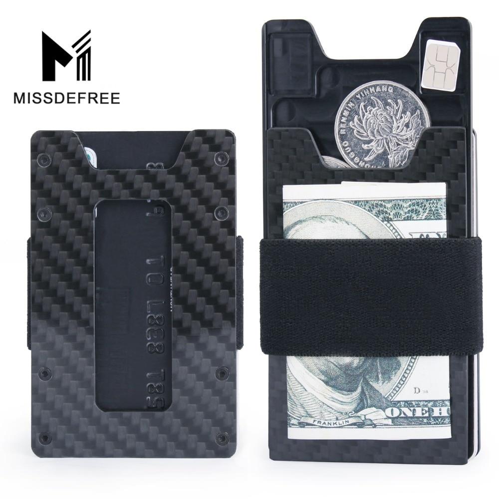 161e78a6f017 US $8.99 40% OFF|Minimalist Carbon Fiber Slim Wallet for Men & Women Slim  Front Pocket Wallet & Credit Card Holder RFID Blocking-in Wallets from ...