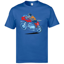 Funky Mens T Shirts Drop Shipping Summer Cool T-Shirts Pure Cotton Hipster Tees For Men Motor Rider Wolf Novelty Tshirts