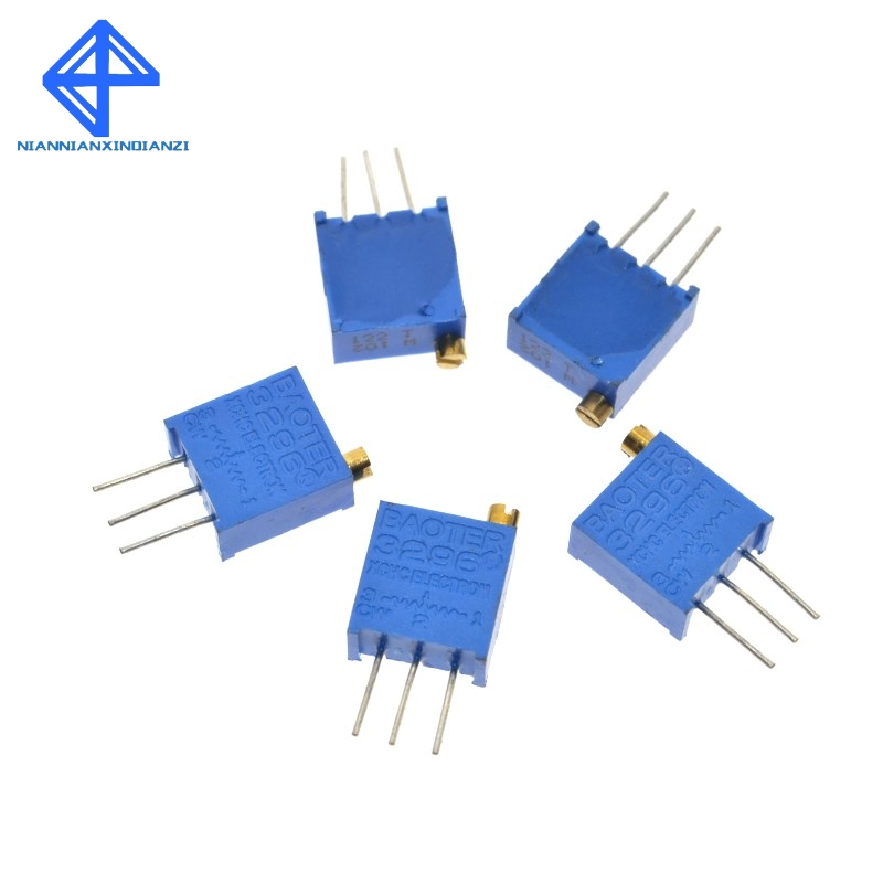 3296W 50 100 <font><b>200</b></font> 500 1K 2K 5K 10K 20K 50K 100K 200K 500K 1M <font><b>ohm</b></font> Multiturn Trimmer Potentiometer High Precision Variable Widerstand image