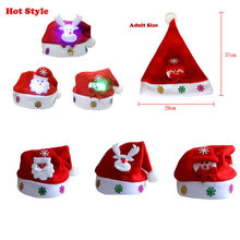eb90be3695c35 (Ship from US) MUQGEW Holiday Gifts Adult LED Christmas Hat Santa Claus  Reindeer Snowman Xmas Gifts Cap Holiday Lighting Drop Shipping