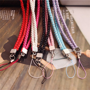 7 PCS Lot Universal Knitted Cell Phone Lanyard Neck Strap Long Rope For Keys Phone Case