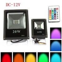 Reflector LED de 10W para exteriores, lámpara de pared de luz fría/cálida/roja/Verde/azul/RGB, proyectores