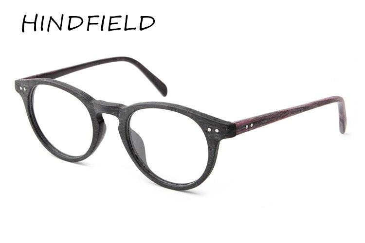 HINDFIELD 2017 Módní kulaté brýle Muži Ženy Retro Vintage Optické brýle Brýlí Myopické brýle Předpis na rám Oculos de grau