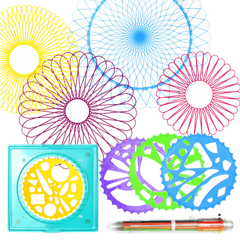 Flower Ruler Sets Children Puzzle Drawing Template Cartoon Stationery Taste