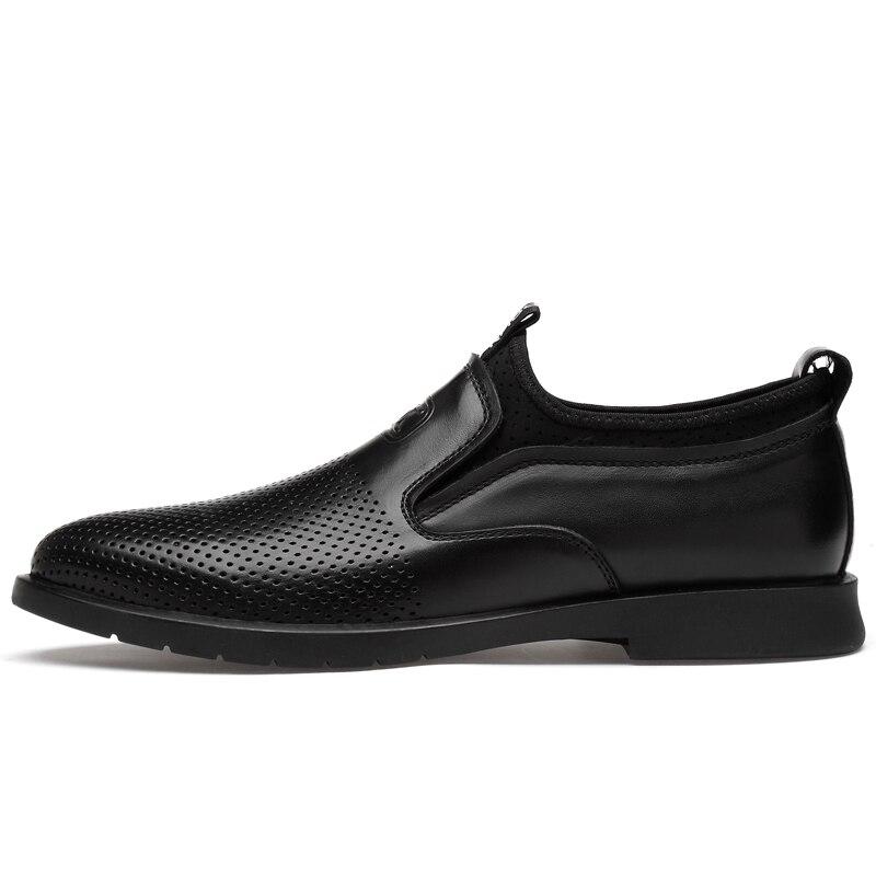 Oscuro Casual Zapatos Mocasines Hombres Los Calidad De Moda Transpirable Nuevo Negro Alta Negocios gris Salvaje Vaca Piel gris Suave Diseño on Cómodo Slip vv8Bq