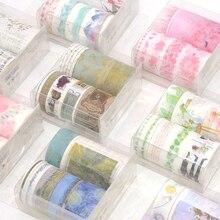 7 Pc/Set Washi Tape Masking Stickers Scrapbooking Lot Cinta Adhesiva Decorativa Unicorn Travel Ocean Washitape Bant Vintage Thin