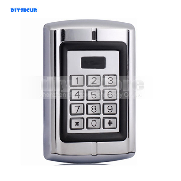 DIYSECUR Door Lock Access Control Controller RFID ID Metal Keypad Card Reader Security For House Office good quality smart rfid card door access control reader touch waterproof keypad 125khz id card single door access controller