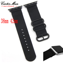 Smart Zulu Nylon iWatch Watchband 38mm 42mm Quality Nylon watch straps For Apple Watch band with 3 stainless steel rings Nato