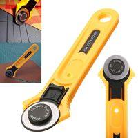 Mayitr Leather Fabric Paper Cutter DIY Home Office Work   Tools   Blade 140*40mm Hand   Tools   Yellow New