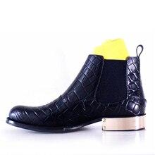 2018 обувь высокого класса решетки Pattern кожаный ручной работы из металла с геометрическим подошва ayakkabi мужская обувь