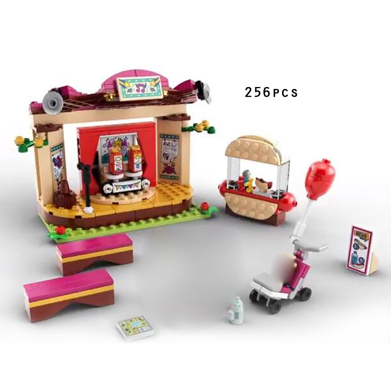 2018 new my good friends andrea park performance building block steve figures Stage bricks 41334 toys for girls gifts