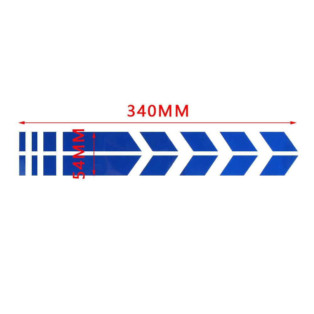 Pegatina reflectante para motocicleta, defensa de rueda, calcomanías de flecha de advertencia para YAMAHA YZF R15 XT660 X R Z TMAX 500 530 TMAX500 530 250