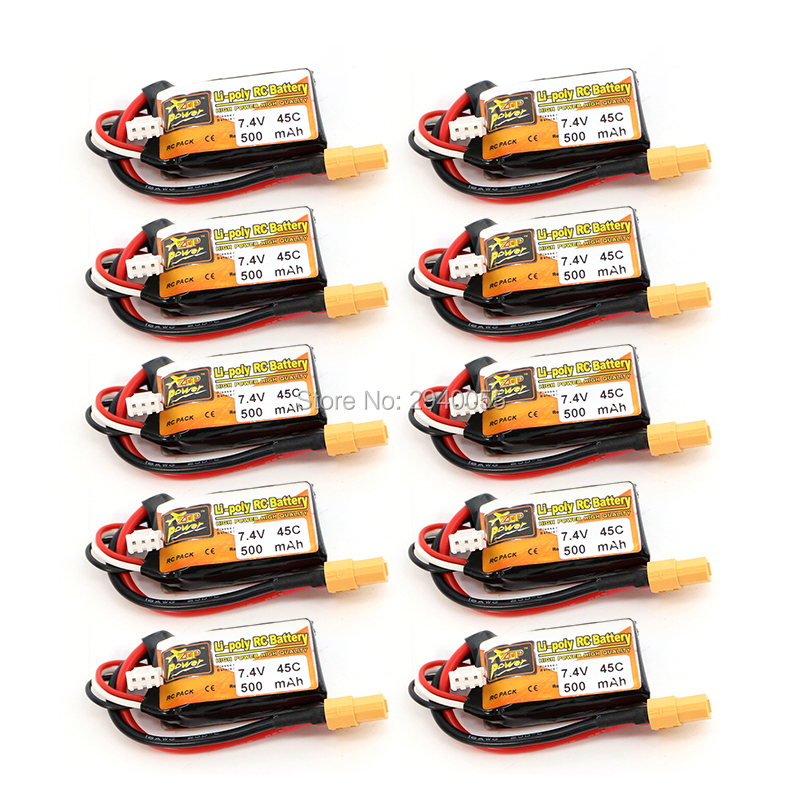 ZOP Power LiPo Battery 10pcs 7.4V 500mAh 45C 2S XT60 Plug  For RC Quadcopter Drone Helicopter Car Airplane zanussi zop 37902 xk в краснодаре