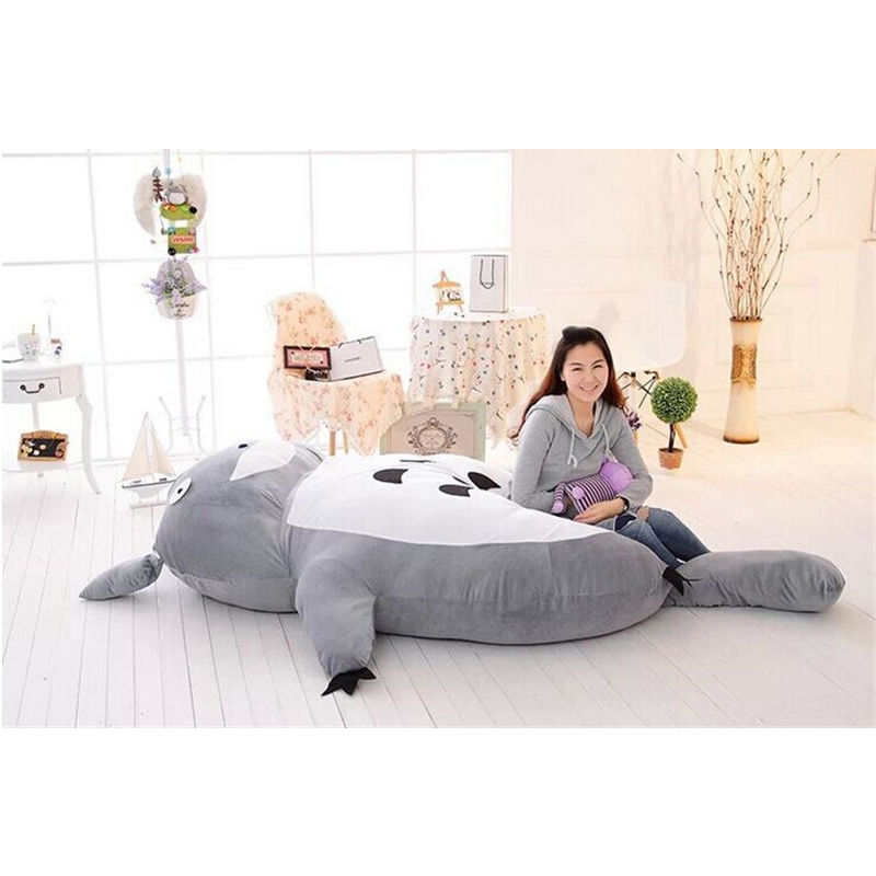 Fancytrader Large Size Cartoon Big Totoro Bed Cushion Tatami Memory Foam Mattress Pad Cover Stuffed Plush Totoro Double Bed