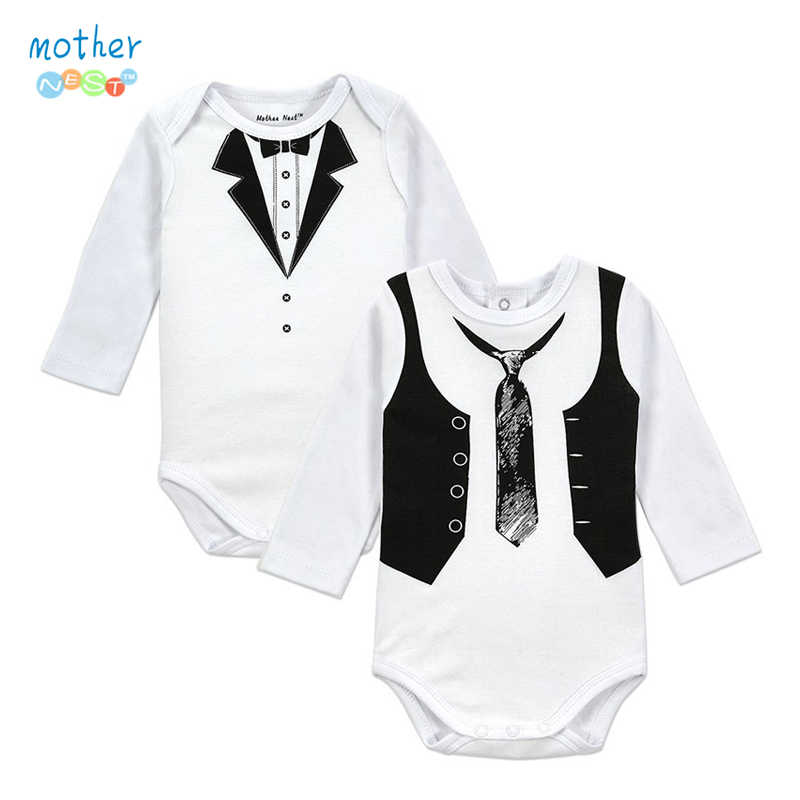 960a62678daf Detail Feedback Questions about 2PCS Gentleman Baby Boy Clothes White  Newborn Wedding Clothes Baby Rompers Long Sleeve Overalls Baby Body Jumpsuit  on ...