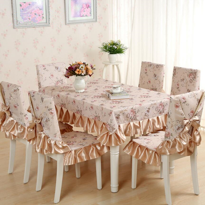 Cheap 13 Pieces Set Tablecloths With Chair Covers For