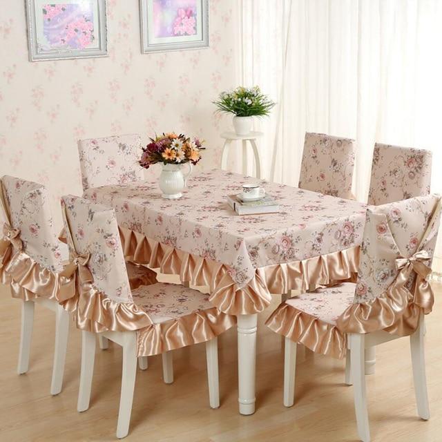 Pas Cher 13 Pices Ensemble Nappes Avec Chaise Couvre Pour Table Manger Style
