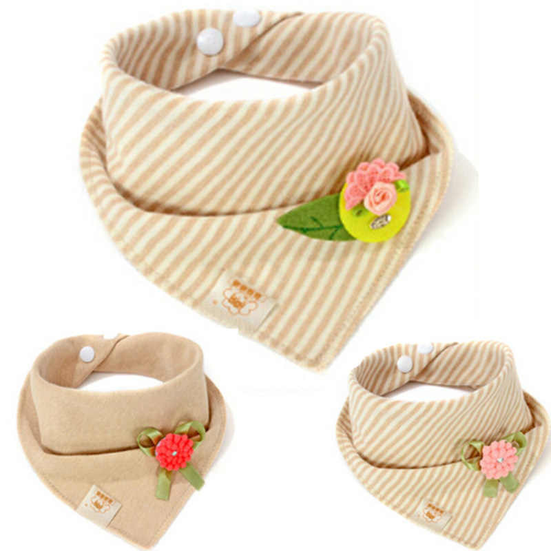 Useful Baby Bibs Baby Burp Boy Girl Cloths Apron Soft Saliva Towel Bibs Cotton Flower Newborn Bandanas Stripe Infant Scarf