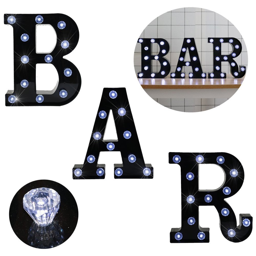 DELICORE BAR Illuminated Marquee Lights Word Sign Pre-Lit Pub Bar Sign Light Diamond Glow LED Night lights Battery Operated metal bar led marquee sign light up vintage signs light bar indoor deration