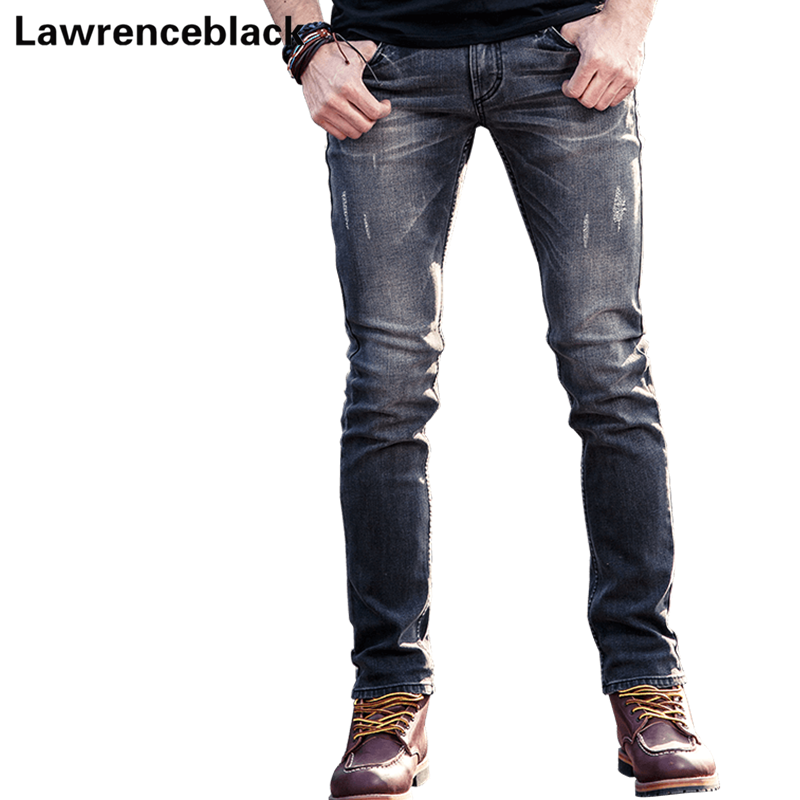 Mens Biker Jeans Denim Classic American Style Brand Pants Elastic Stretch Motorcycle Jeans Top Quality Long Trousers Male 239