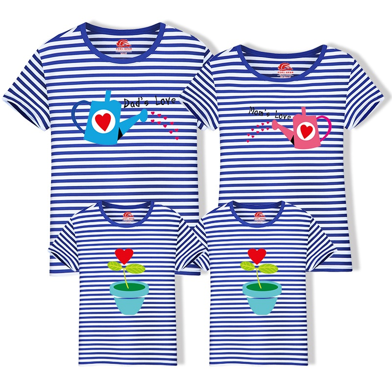 HTB1YAORebsrBKNjSZFpq6AXhFXae - Matching Family Clothing 1 piece Family Cultivate Love Summer Short-sleeve T-shirt Outfits For Mother Daughter And Father Son