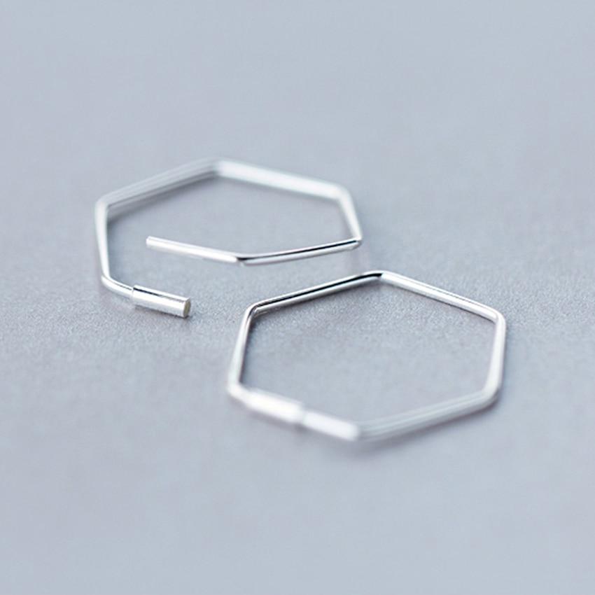 Kinitial Cut Out Hexagon Honeycomb Post Earring Open Line Hive Hexagon Geometric Bee Earrings for Women Statement Earring 5
