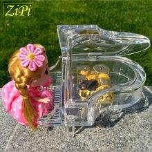 New Mini Piano music box mini acrylic music box birthday gift