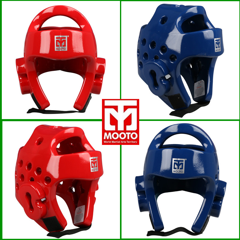 MOOTO Taekwondo Helmet Adult Children headgear head Protector Safety Helmet Kickboxing head guard WTF approve Karate Helmets Red wtf taekwondo sparring gear protectors guards complete one set helmet chest arm shin groin guard jockstrap protector