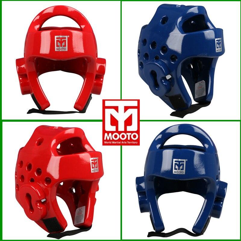 MOOTO Taekwondo casco para adultos niños casco de cabeza Protector de seguridad Kickboxing head guard WTF aprobado Karate cascos rojo