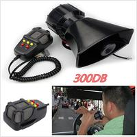 12V 300DB 60W Car Truck Electric Air Horn Siren Speaker 5 Sound Tone Super Loud