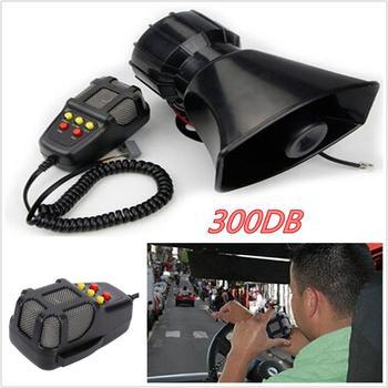 12V 300DB 60W Universal Car Truck Electric Air Horn Siren Speaker 5 Sound  Tone Super Loud