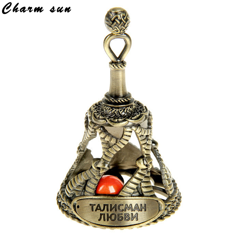 Orange stone accessories.Bells. Amulet.Vintage home decorative bells. souvenirs.metal gifts crafts for long life free shipping