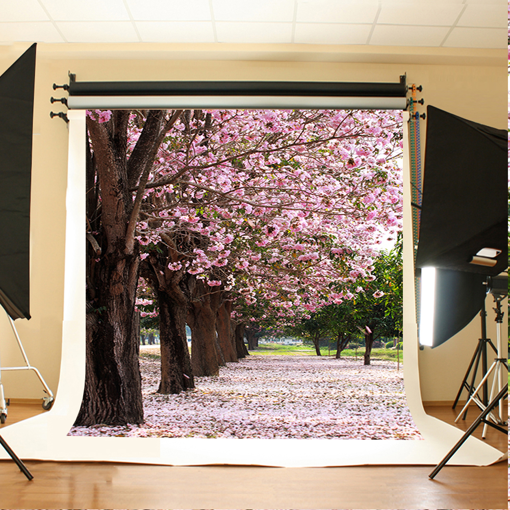 Valentine's Day Photography Background Pink Flower Tree Birthday Backdrops Petal Ground Backgrounds for Photography 300 200cm 10ft 6 5ft photography backdrops scattered horse petal branch