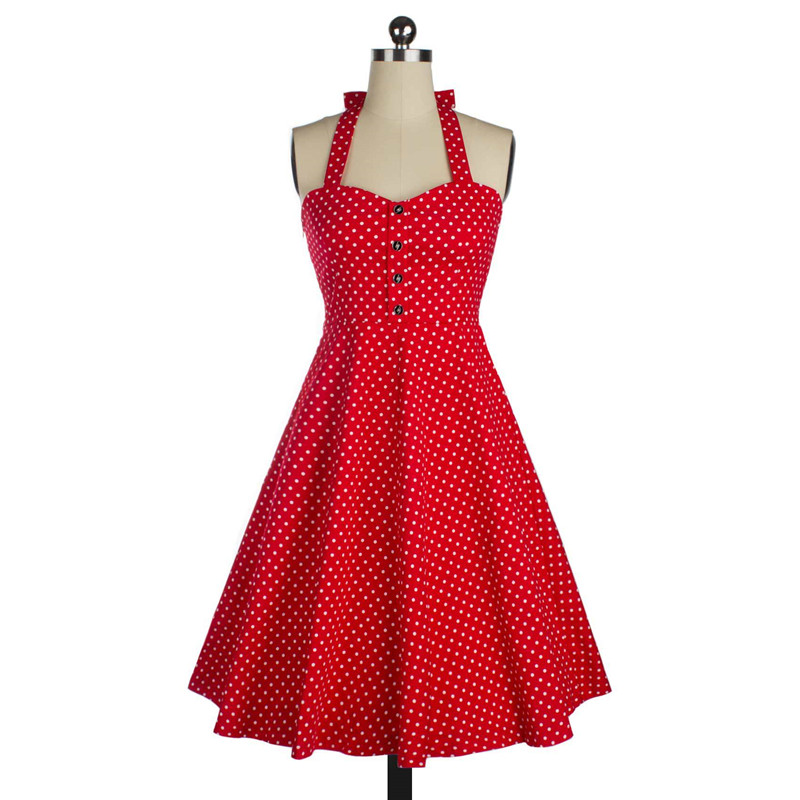 New Summer Dresses Women Pinup Retro Robe Rockabilly 50s Vintage Dress Plus  Size S-2XL Sexy Cocktail Party Dress a11b1d1050f5