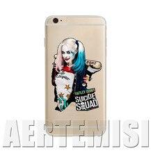 Телефон Случаях Марго Робби Харли Квинн Suicide Squad DC Comics Мягкие TPU Ясно чехол для Apple iPhone 4 4s 5 5s 5c 6 6 s Plus SE