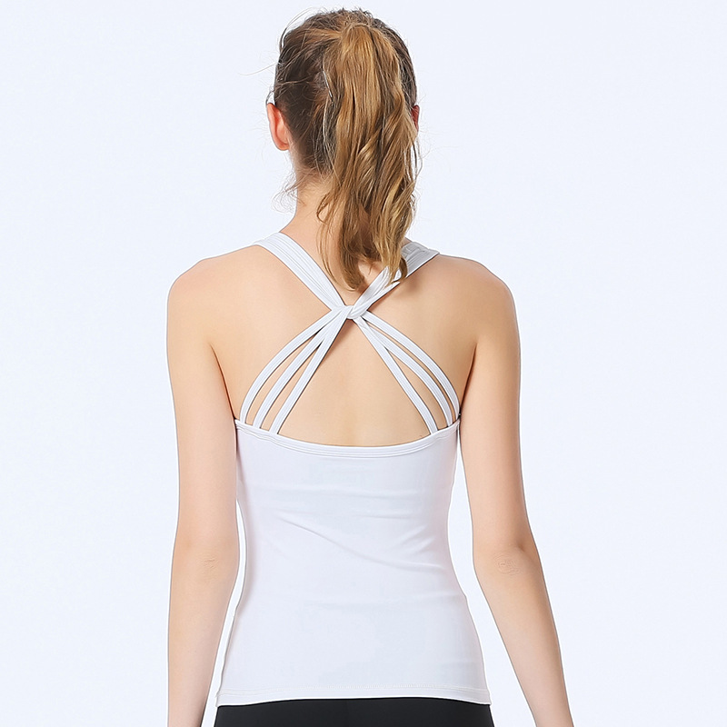 Yoga Serve Maam Vest Summer Maam Beautiful Back Crossing Sexy Camisole Jacket Bring Chicken Fillet Bodybuilding Clothes