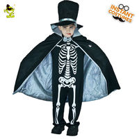 Boys Scary Bloody Skeleton Duke Costumes Halloween Masquerade Party Cosplay Fancy Dress Kids Horror Clothing For Carnival Party