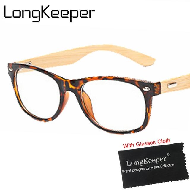 1f0b0aaf675b7 Das Mulheres Dos Homens de moda Óculos De Armação De Bambu Óculos de Madeira  Armações de