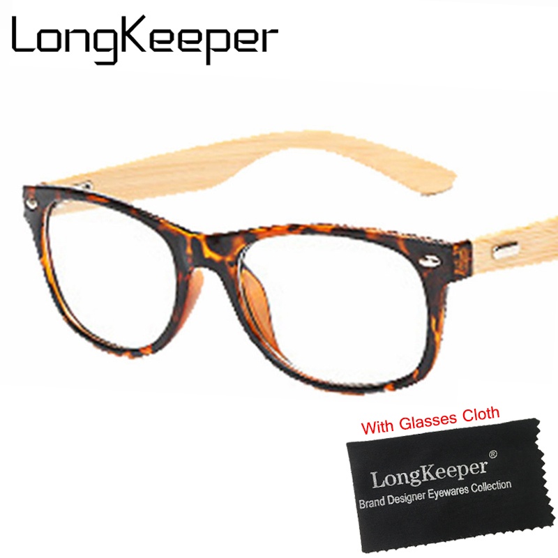 Fashion Bamboo Glasses Frame Men Women Wood Eyeglasses Spectacle