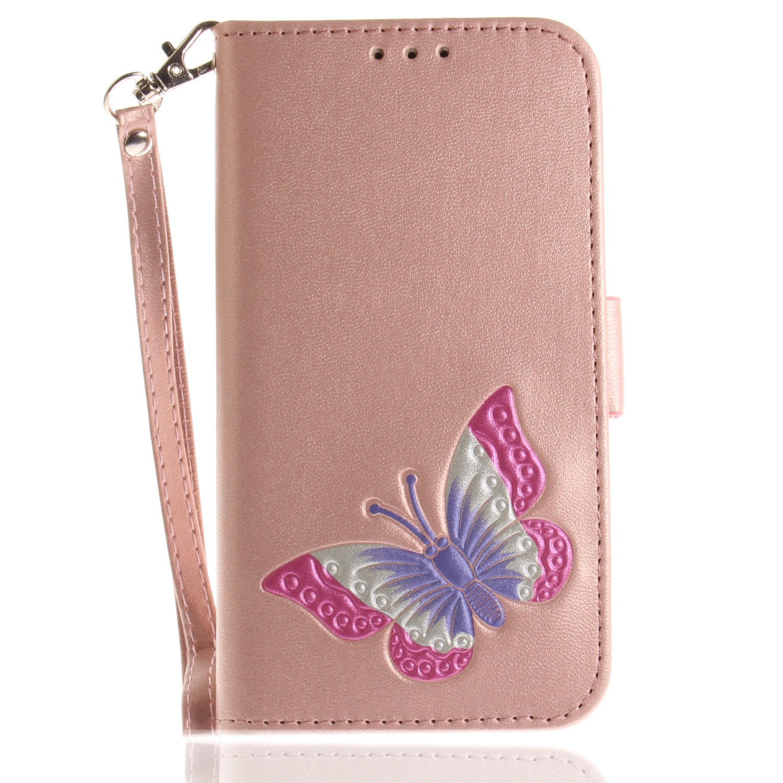 Butterfly Flip Case for Motorola Moto E4 E 4th Gen XT1767 Wallet Card slot Case Phone Leather Cover for Moto E Gen 4 Capa Bag