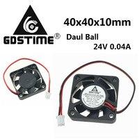 100Pcs Gdstime 24V 0.04A 40mm x 40mm x 10mm Ball Bearing Mini Small DC 3D Printer Cooling Cooler Fan
