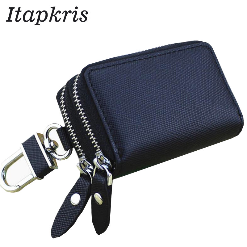 Leather Wristlet Cell Phone//Change Purse.2 Zipper /& Rooms,Unique /& Useful Blue