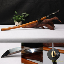 Handmade Katana 1095Carbon Steel Clay Tempered Hard Wooden Samurai Sword Sharp Edge Real Weapon