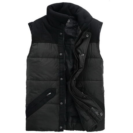 Hot! Professional custom fashion large size men's fall and winter clothes men's cotton vest down vest, black, large-size M-XXXXL