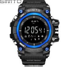 GIMTO Reloj Digital Del Deporte de Los Hombres Corriendo Podómetro LED Choque de Buceo Militar Cronómetro Altímetro Electrónico Reloj Bluetooth Inteligente