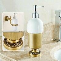 Antique Brushed Liquid Soap Dispenser Châu Âu Bronze Kiểu Ngồi Rửa Tay Tách Lỏng Rửa Lỏng Tắm Xà Phòng Xà Phòng Sản Phẩm