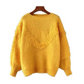 O-neck Lantern Sleeve Sweater